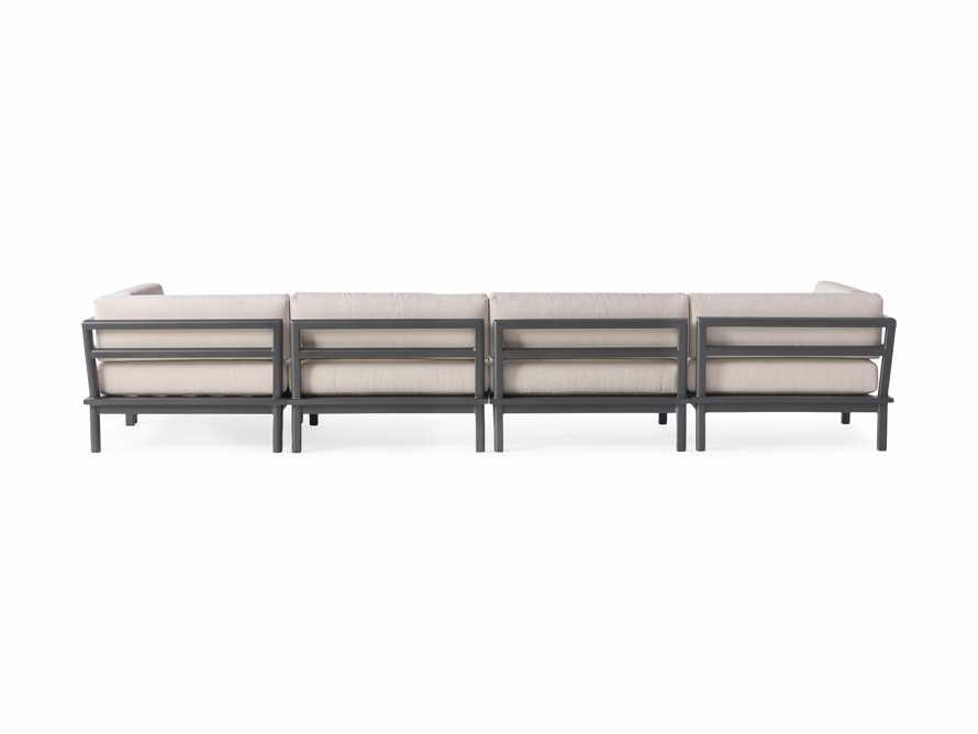 "Costa Outdoor 153"" Aluminum Five Piece Sectional, slide 3 of 4"