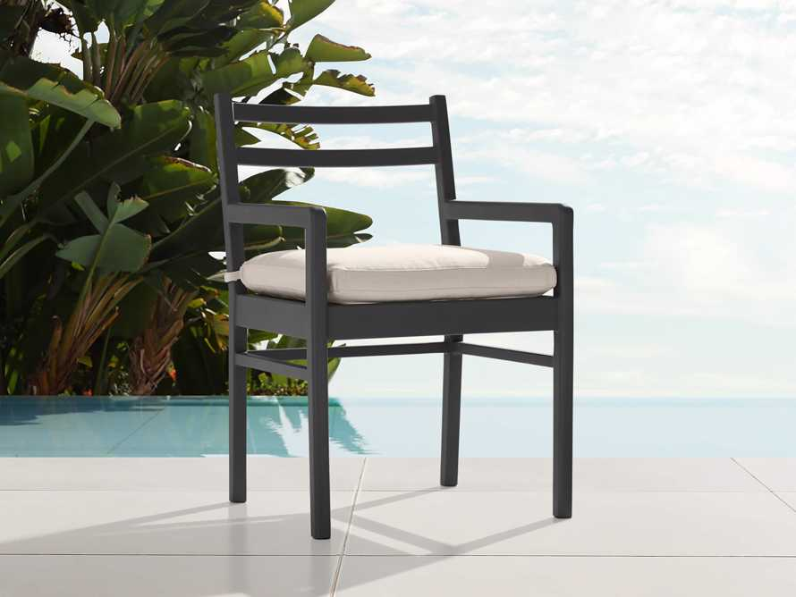 "Costa Outdoor 23.5"" Aluminum Dining Arm Chair, slide 1 of 3"