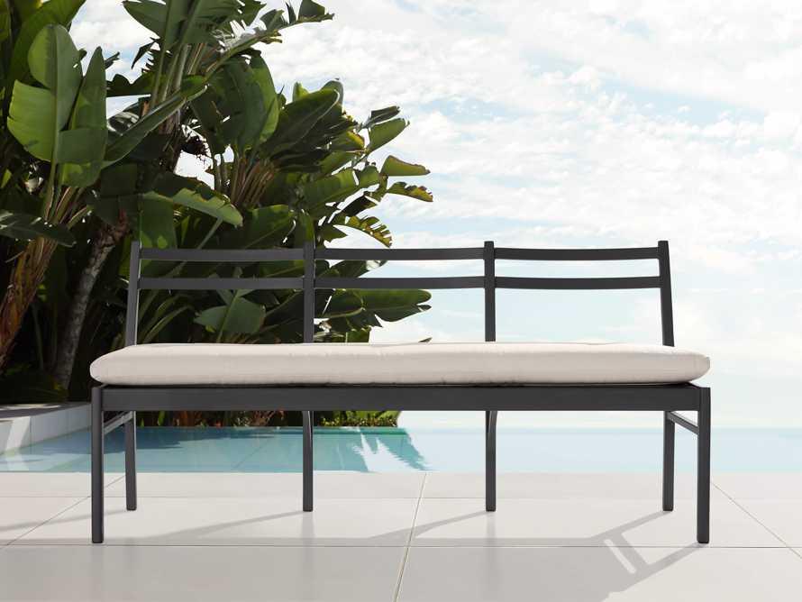 "Costa Outdoor 74"" Aluminum Dining Bench, slide 1 of 6"