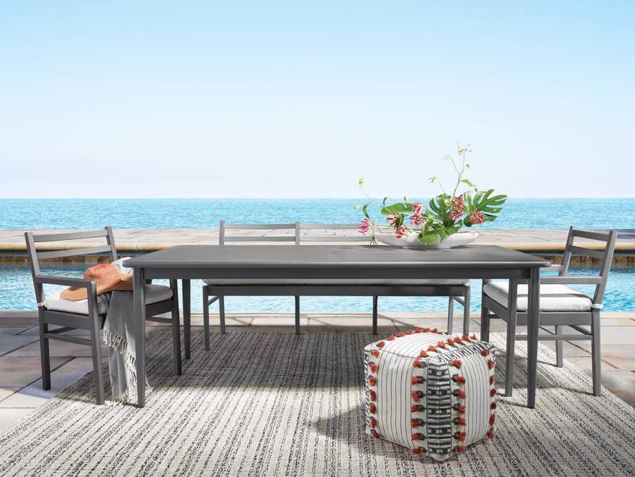 "Costa Outdoor 74"" Aluminum Dining Bench, slide 2 of 6"