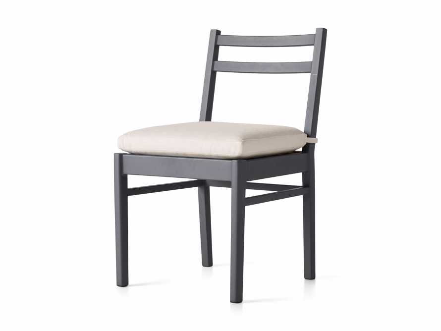 "Costa Outdoor 21.25"" Aluminum Dining Side Chair, slide 3 of 5"