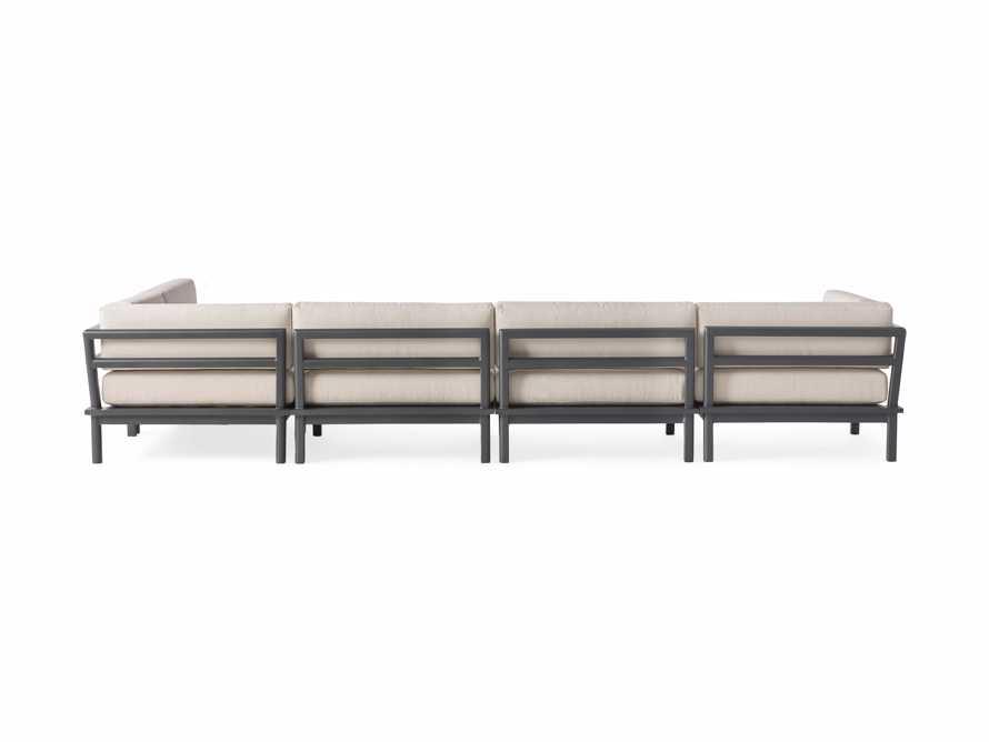 "Costa Outdoor 153"" Aluminum Six Piece L Sectional, slide 3 of 4"