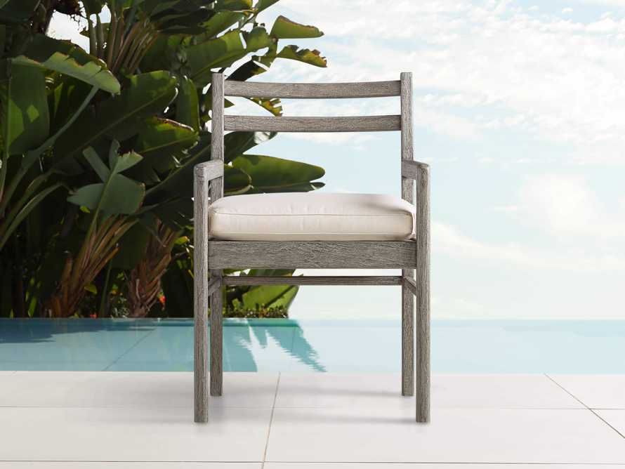 """Costa Outdoor 24"""" Dining Arm Chair, slide 1 of 6"""