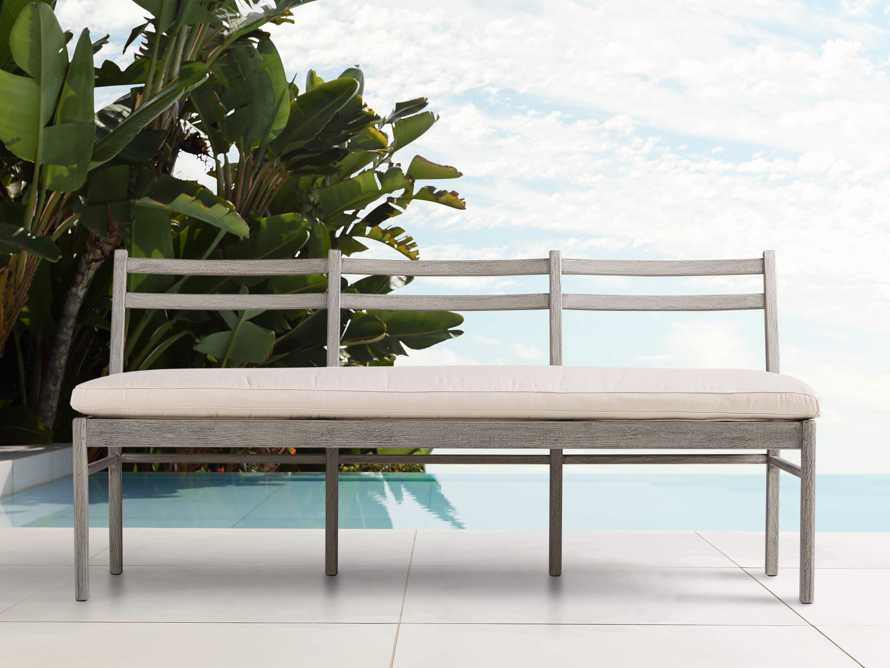 "Costa Outdoor 74"" Dining Bench, slide 1 of 3"