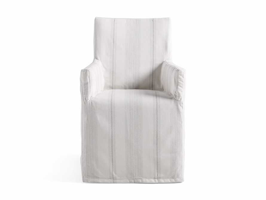"Devon Outdoor 22"" Slipcovered Dining Arm Chair in Modena Snow"