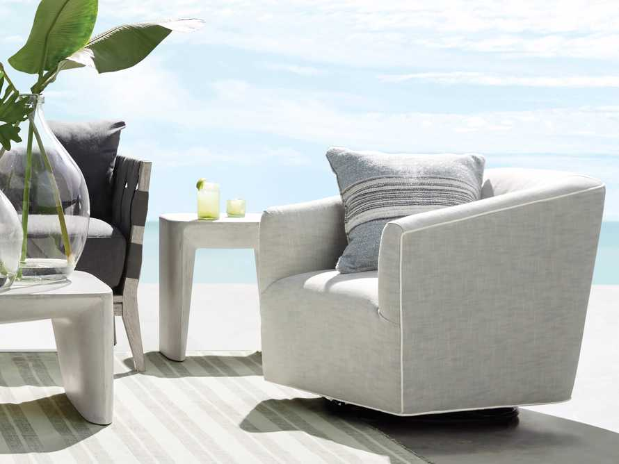 "Ellison Outdoor 31"" Swivel Chair in Starboard Zinc, slide 8 of 11"