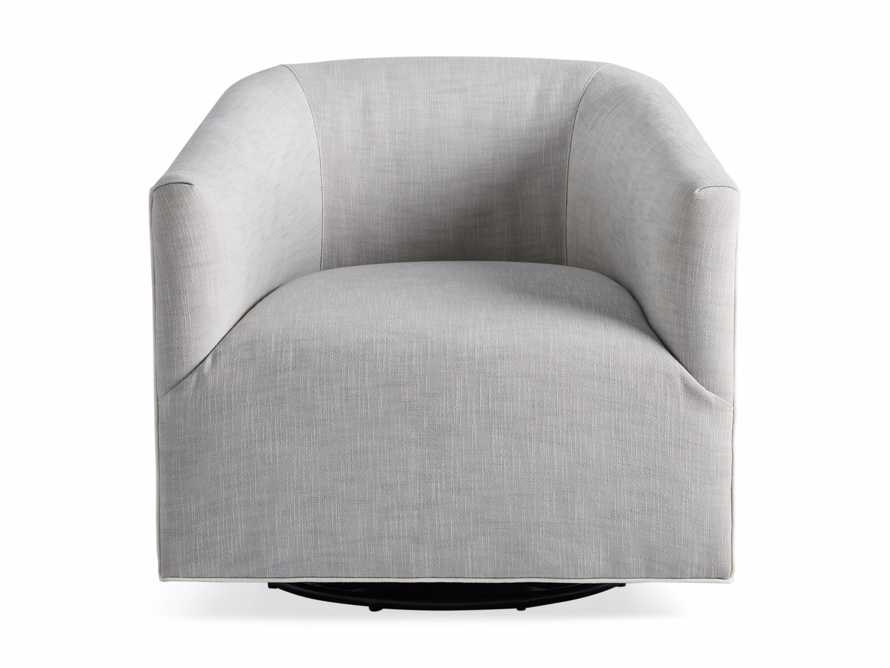 "Ellison Outdoor 31"" Swivel Chair in Starboard Zinc, slide 3 of 7"