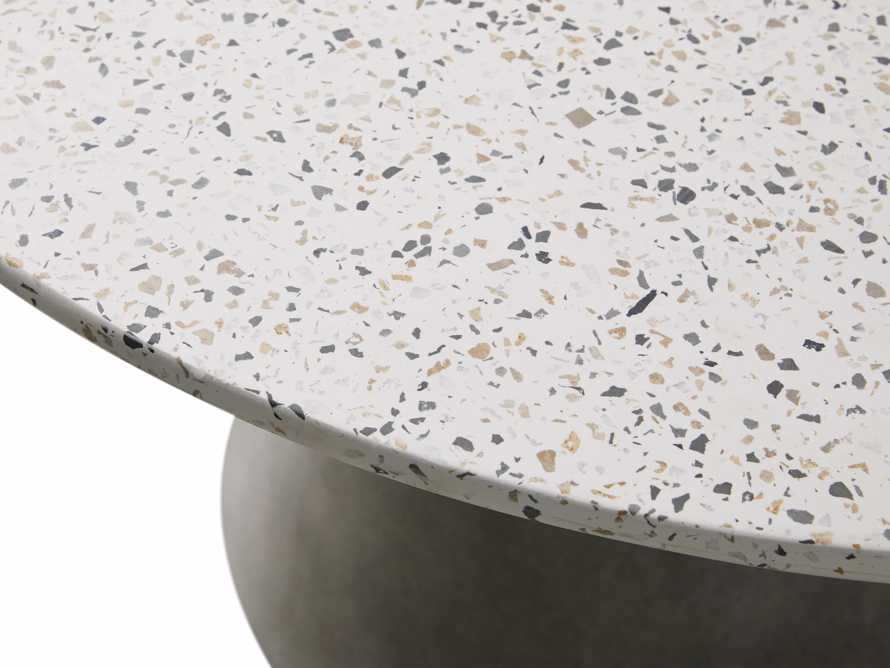 "Edgewater Outdoor 54"" Stone Dining Table in Natural Terrazzo/greystone, slide 4 of 7"