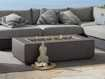 Grey Rectangle Outdoor Concrete Fire Table