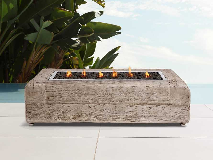 """Natural Log 53"""" Rectangle Outdoor Fire Table, slide 2 of 9"""
