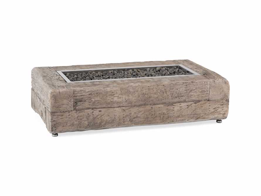 Natural Log Rectangle Outdoor Fire Table, slide 4 of 9
