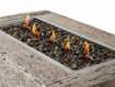 Natural Log Rectangle Outdoor Fire Table
