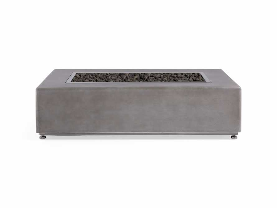 "Outdoor 53"" Concrete Light Grey Fire Pit, slide 3 of 9"