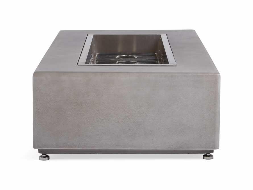 "Outdoor 53"" Concrete Light Grey Fire Pit, slide 6 of 9"