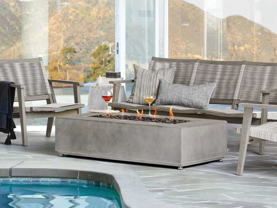 "Outdoor 53"" Concrete Light Grey Fire Pit, slide 1 of 9"
