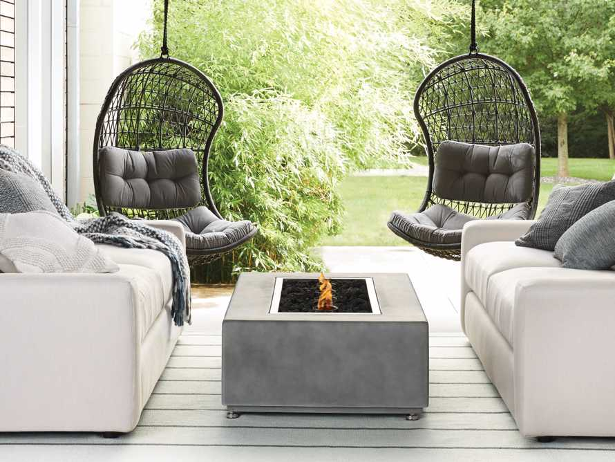 """Outdoor 53"""" Concrete Light Grey Fire Pit, slide 10 of 10"""