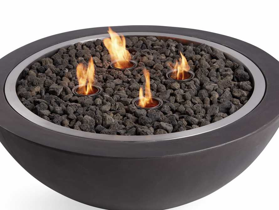 "Outdoor 36"" Round Concrete Fire Pit, slide 7 of 9"