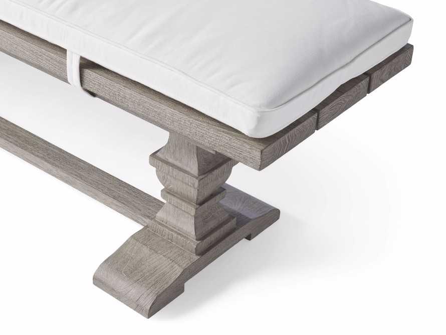 "Hamptons Outdoor 66"" Dining Bench in Driftwood Grey, slide 4 of 4"