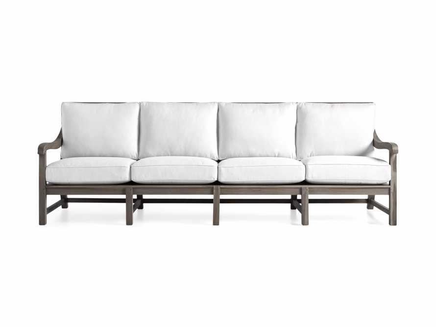 """Hamptons Outdoor 109.5"""" Sofa in Driftwood Grey, slide 2 of 2"""