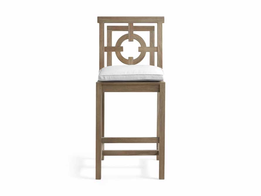 "Hamptons Outdoor 21"" Barstool in Weathered Fawn, slide 1 of 1"