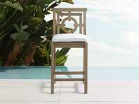 """Hamptons Outdoor 21"""" Barstool in Weathered Fawn"""