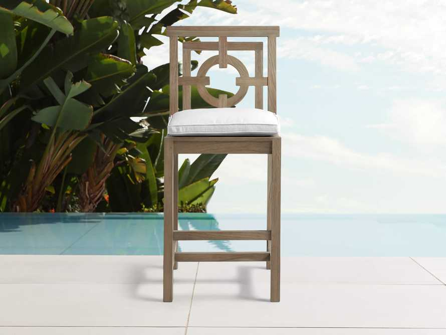 """Hamptons Outdoor 21"""" Barstool in Weathered Fawn, slide 1 of 2"""