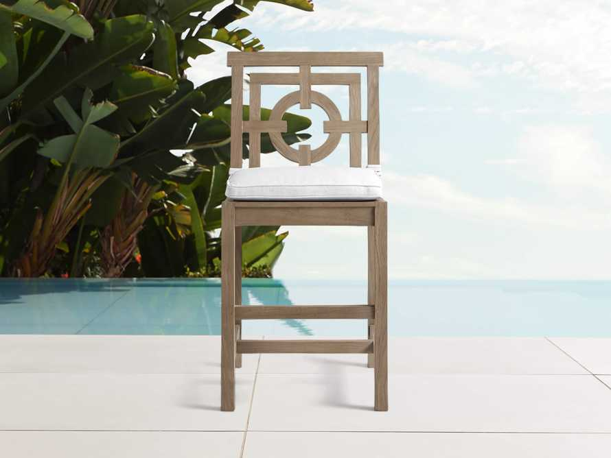 """Hamptons Outdoor 21"""" Counter Stool in Weathered Fawn, slide 1 of 2"""
