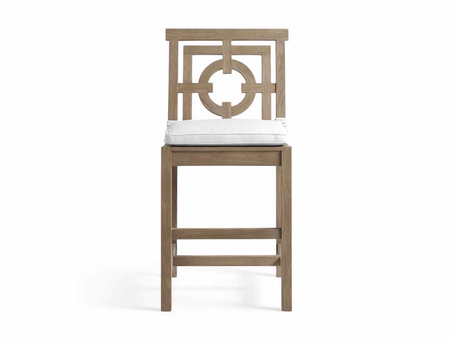 """Hamptons Outdoor 21"""" Counter Stool in Weathered Fawn, slide 2 of 2"""