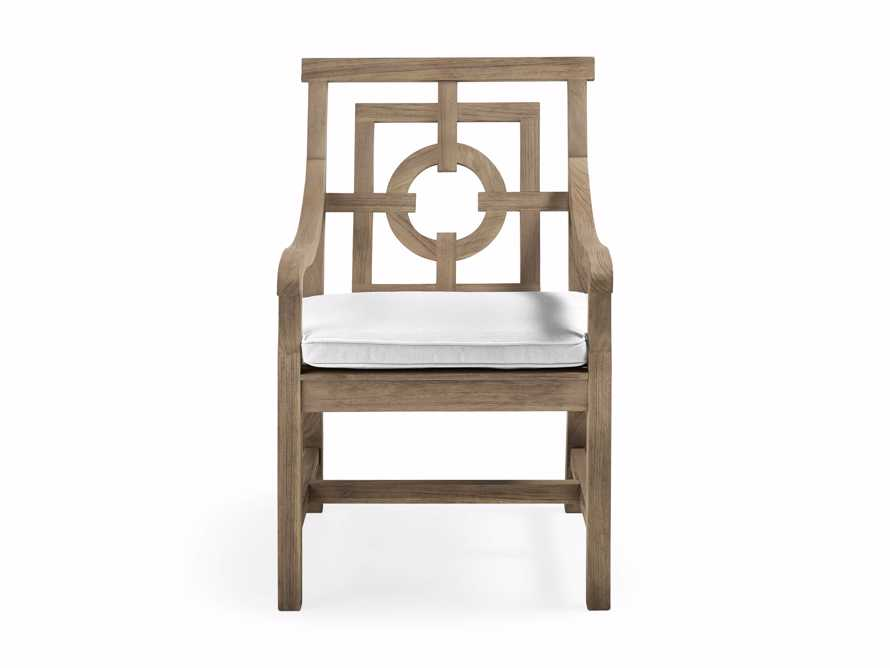 "Hamptons Outdoor 24"" Teak Dining Arm Chair, slide 2 of 2"