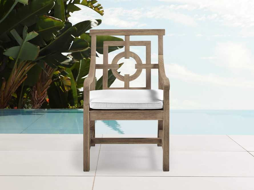 "Hamptons Outdoor 24"" Teak Dining Arm Chair, slide 1 of 2"