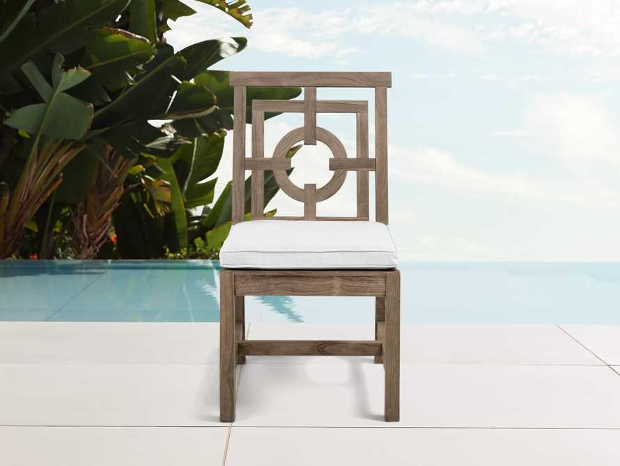 "Hamptons Outdoor 21"" Teak Dining Side Chair, slide 1 of 2"