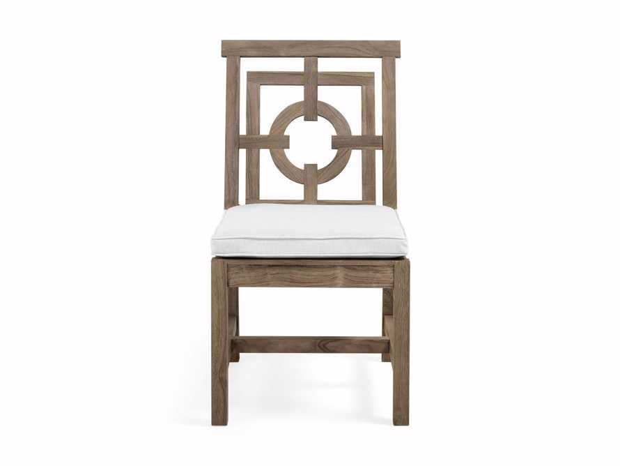 "Hamptons Outdoor 21"" Teak Dining Side Chair, slide 1 of 1"