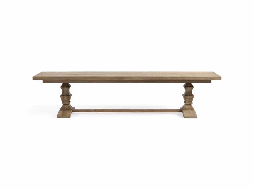 """Hamptons Outdoor 66"""" Dining Bench in Weathered Fawn, slide 2 of 6"""