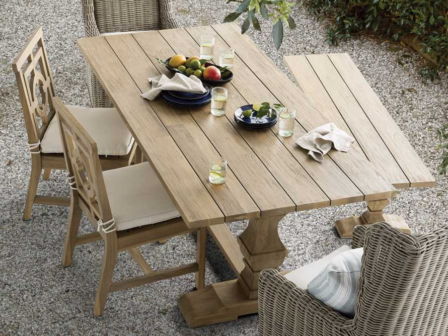 "Hamptons Outdoor 70"" Dining Bench in Weathered Fawn, slide 6 of 6"