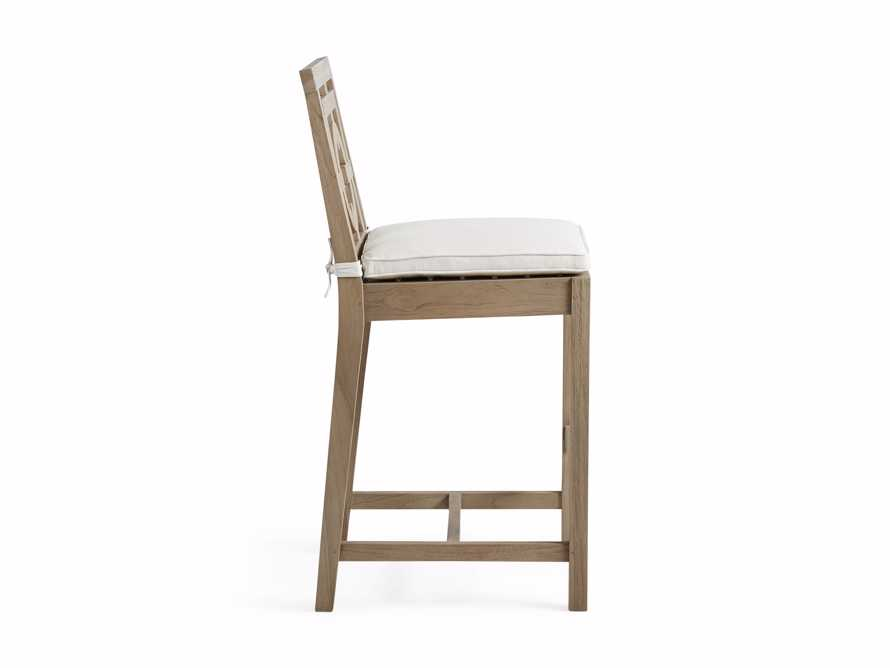 "Hamptons Outdoor 21"" Barstool in Weathered Fawn, slide 3 of 5"