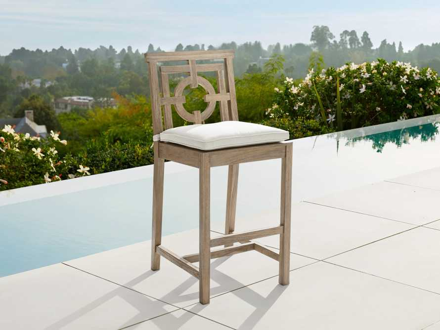 "Hamptons Outdoor 21"" Barstool in Weathered Fawn, slide 1 of 5"