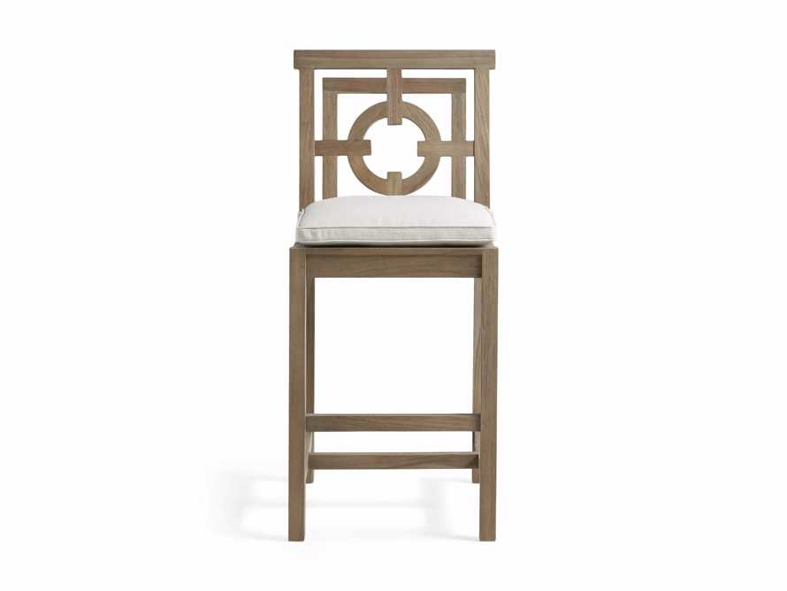 "Hamptons Outdoor 21"" Barstool in Weathered Fawn, slide 2 of 5"