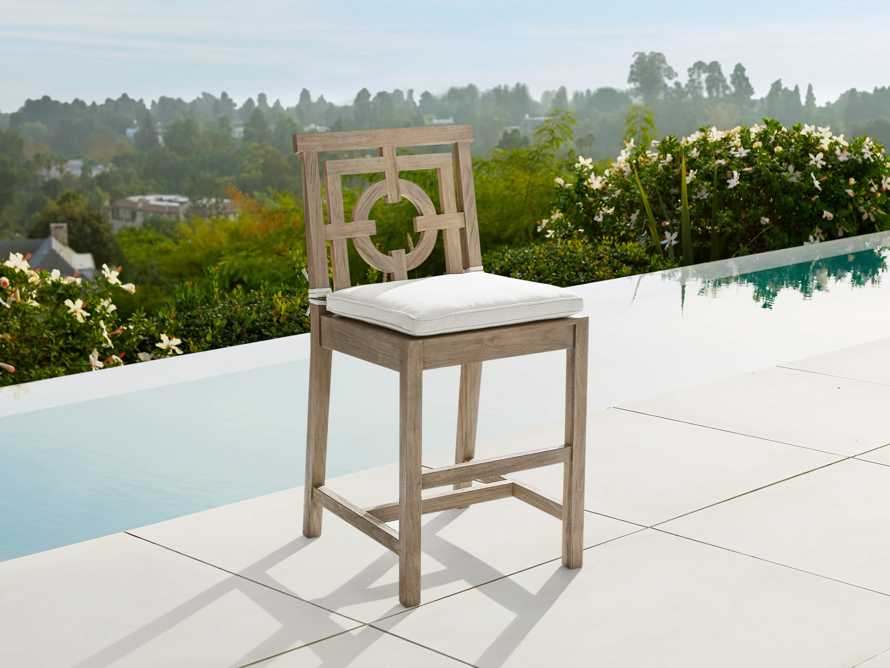 "Hamptons Outdoor 21"" Counter Stool in Weathered Fawn, slide 1 of 4"