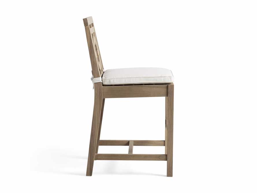 "Hamptons Outdoor 21"" Counter Stool in Weathered Fawn, slide 3 of 4"