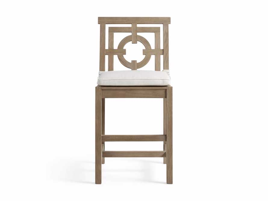 "Hamptons Outdoor 21"" Counter Stool in Weathered Fawn, slide 2 of 4"