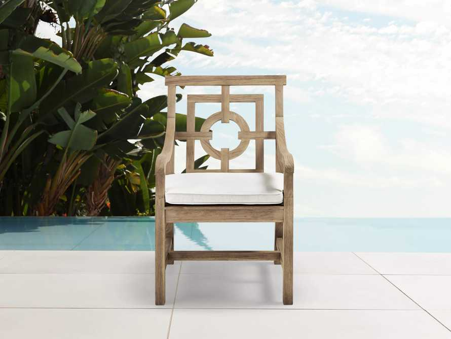 """Hamptons Outdoor 24"""" Dining Arm Chair Replacement Cushion"""