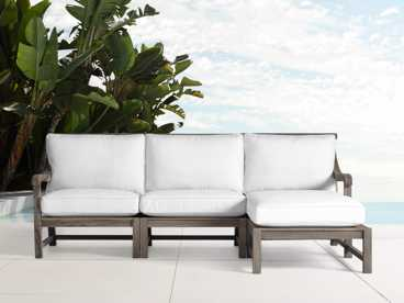 View the Hamptons Outdoor Three Piece Sectional | Variant: DRIFTWOOD GREY