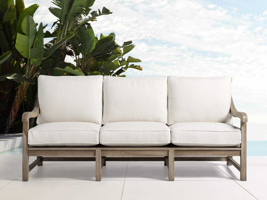 """Hamptons Outdoor 85"""" Sofa Replacement Cushions, slide 1 of 2"""