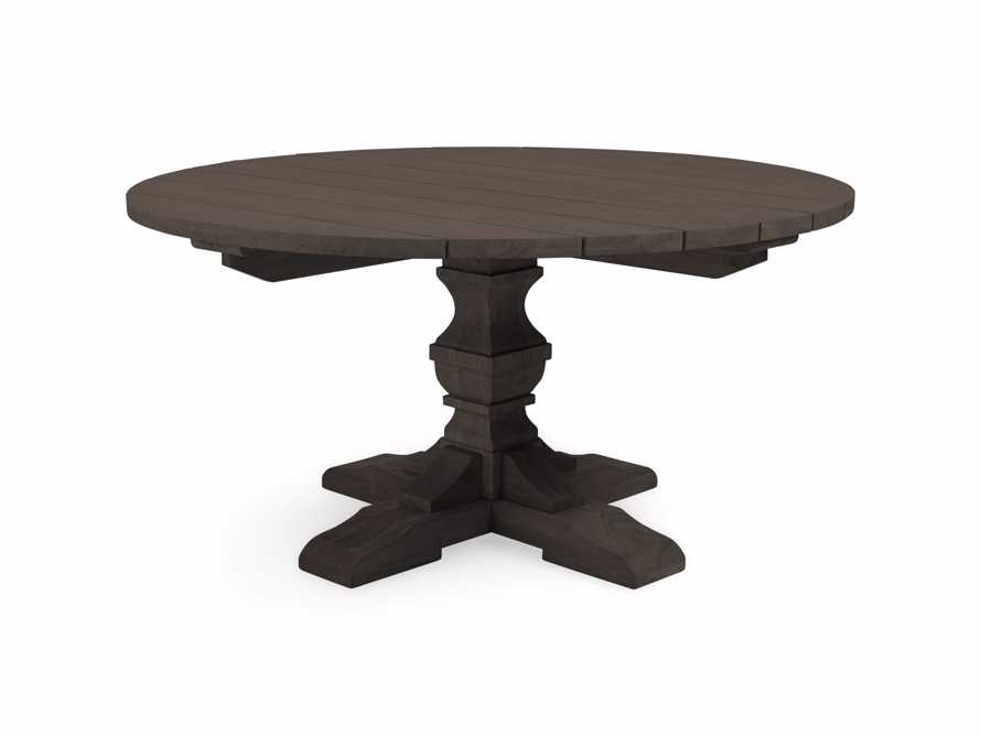 "Hamptons Outdoor 48"" Round Teak Dining Table in Truffle Brown, slide 3 of 3"