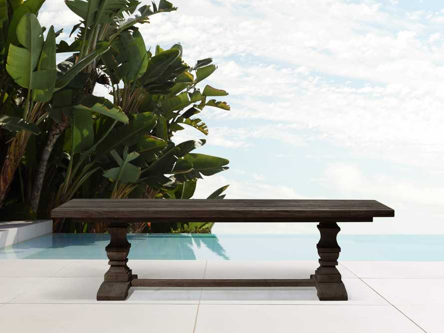 """Hamptons Outdoor 66"""" Dining Benches in Truffle Brown, slide 1 of 2"""