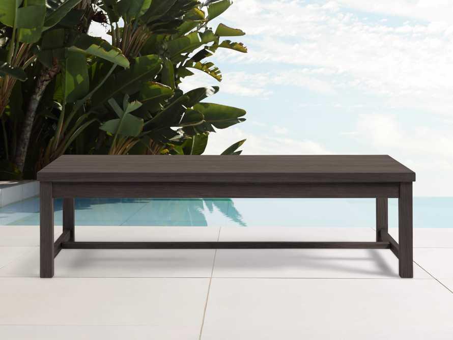 "Hampton Outdoor 60"" Rectaongle Coffee Table in Truffle Brown, slide 1 of 2"