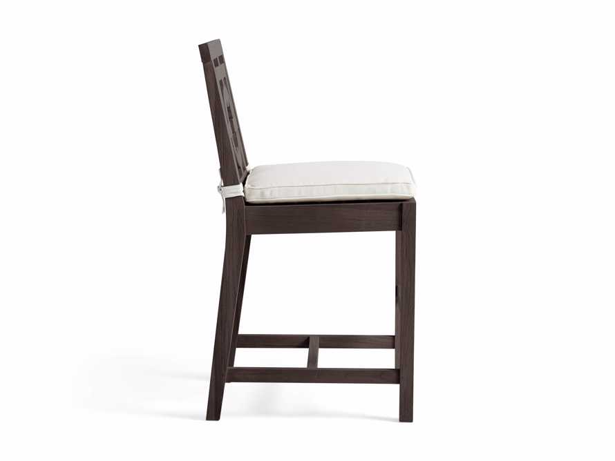 "Hamptons Outdoor 21"" Counter Stool in Truffle Brown, slide 3 of 5"