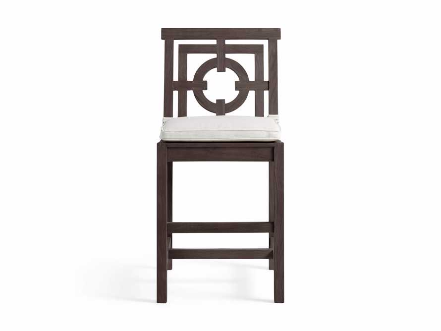 "Hamptons Outdoor 21"" Counter Stool in Truffle Brown, slide 2 of 5"