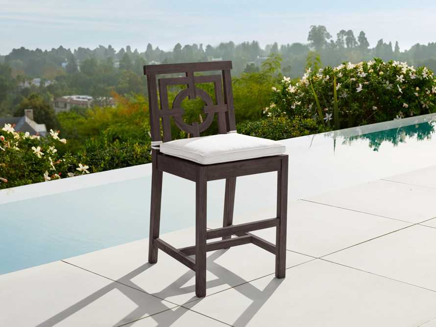 "Hamptons Outdoor 21"" Counter Stool in Truffle Brown, slide 1 of 5"