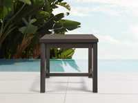 """Hamptons Outdoor 26"""" End Table in Truffle Brown"""